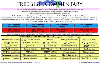 Computer Bible Study Library Menu